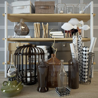 3d model storage decorative