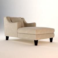 3d coaster comfortable microfiber chaise lounge