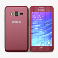 samsung z1 wine red 3d model