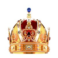 3d model of realistic royal crown