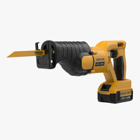 cordless reciprocating saw 3d model