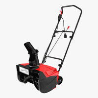 electric snow blower obj