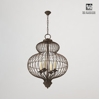cage chandelier provence 3d max