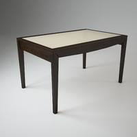 3d modern dining table alno model