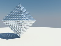 3d triangle grid model