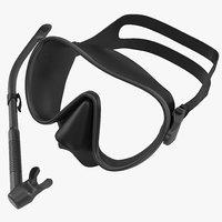 3d model scuba mask snorkel