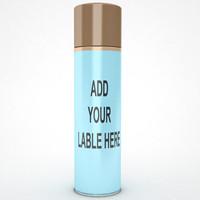 3d container bottle model