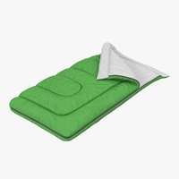 3d model sleeping bag green