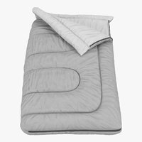 3d model sleeping bag grey