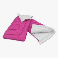 3d model sleeping bag pink