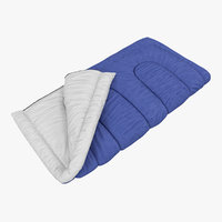 max sleeping bag blue