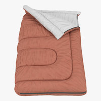 sleeping bag brown 3d max