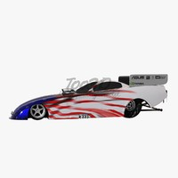 3d t funny car model