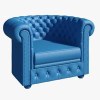 3d model chesterfield armchair