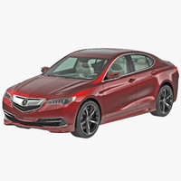 3d acura tlx 2015 model