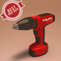 3d model battery screwdriver