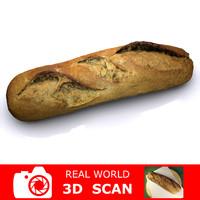 3d model scanned bread