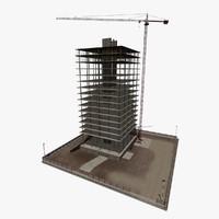 building construction set 3d model