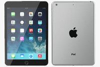 3d model apple ipad mini 2