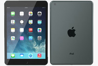 apple ipad mini black 3d model