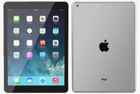 3d model apple ipad air space
