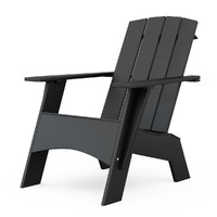 3d 4-slat tall adirondack chair