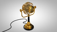 3d model steampunk microphone