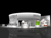 exhibition design stand 3d max