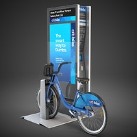 new york citibike nyc 3d max