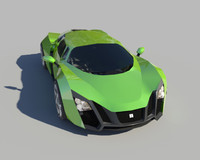 3d model car marussia b2
