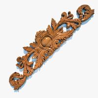 3ds max wooden cartouche el62