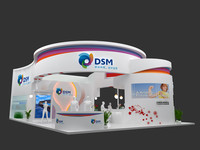 exhibition design stand 3d model