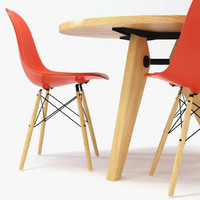 Vitra DSW Chair & Gueridon Table