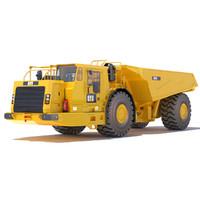 3d model ad60 underground mining truck