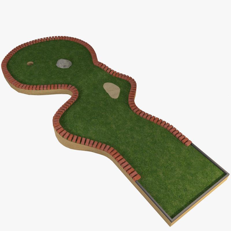 3d model of mini golf course 5