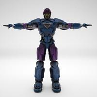 3d robot animation