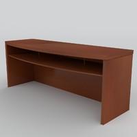 small wooden table uv 3d model
