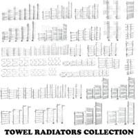 3d model towel radiators