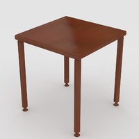 small wooden table uv 3d model