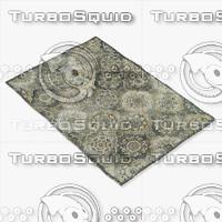 loloi rugs av-08 grey 3d obj