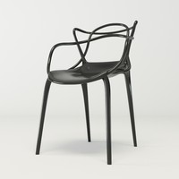 black design chair corona 3d model