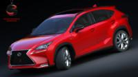 lexus nx 200t f-sport 3d model