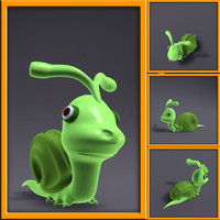 3d cartoon snail