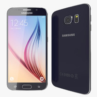 3d model realistic samsung galaxy s6