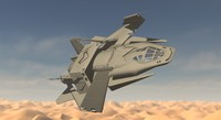 3d model of spaceship ship