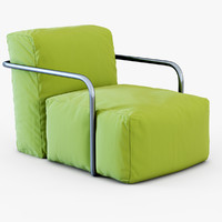 3d armchair bubbly model