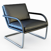 3d armchair george lounge model