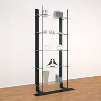 3d model glass shelve ecart international