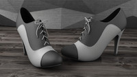 maya heels black white