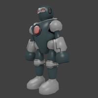3d model of cartoon robot